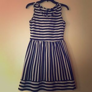 BeBop BLACK & WHITE STRIPED SLEEVELESS MINI DRESS
